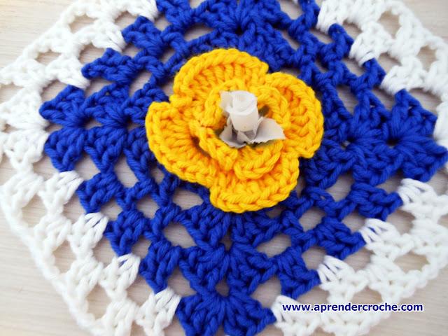 quadrados aprender croche flores quadradas com edinir-croche dvd loja curso de croche
