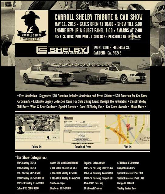 St Annual Carroll Shelby Tribute Car Show TheGentlemanRacercom - Fun car show award categories