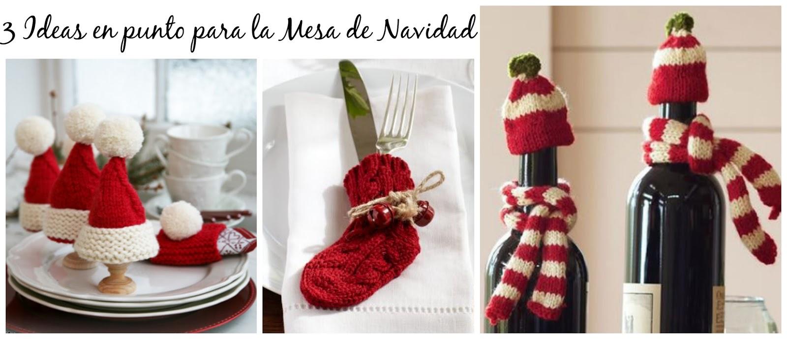 3 ideas en punto para la mesa de navidad for Ideas para decorar la mesa de navidad