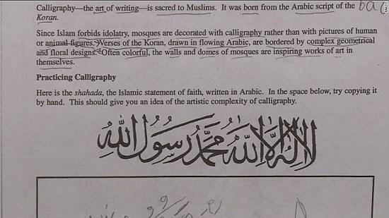 Islamophobia: Kerana Kaligrafi Syahadah, Sekolah Di US Diarah Tutup