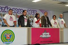 PRESIDENTE EUNICE CABRAL, E OS DIRETORES, JOSE ANTONIO,MOACIR TENORIO,ELIAS,CARMELITA E LORENÇO.