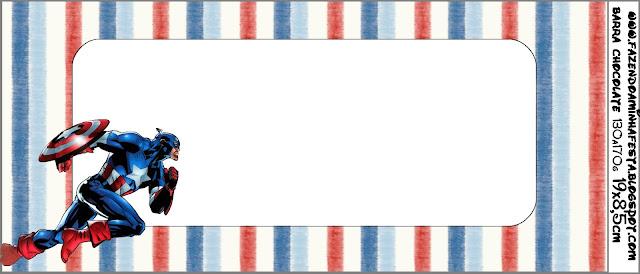 Etiquetas para imprimir gratis de Capitán América