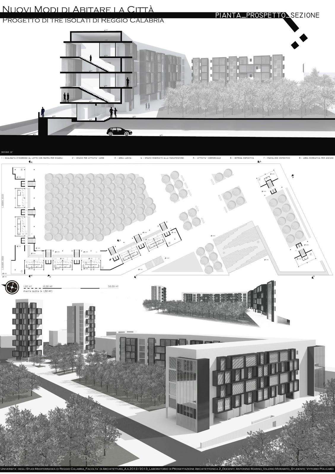 Vittorio policaro architect complesso residenziale a for Software di piano terra residenziale