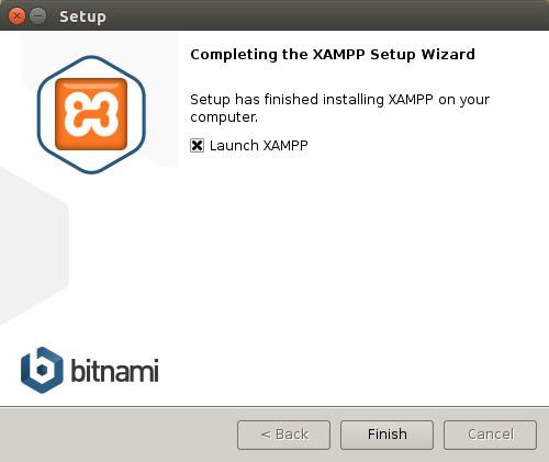 completing the xampp setup wizard