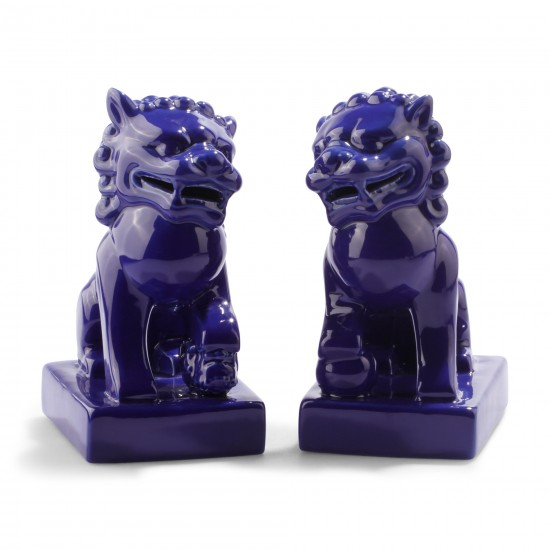 Deep Blue Foo Dogs C Wonder