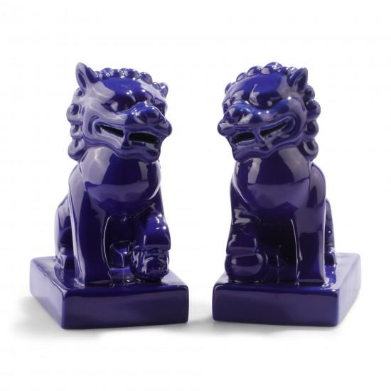 Deep Blue Foo Dogs C Wonder
