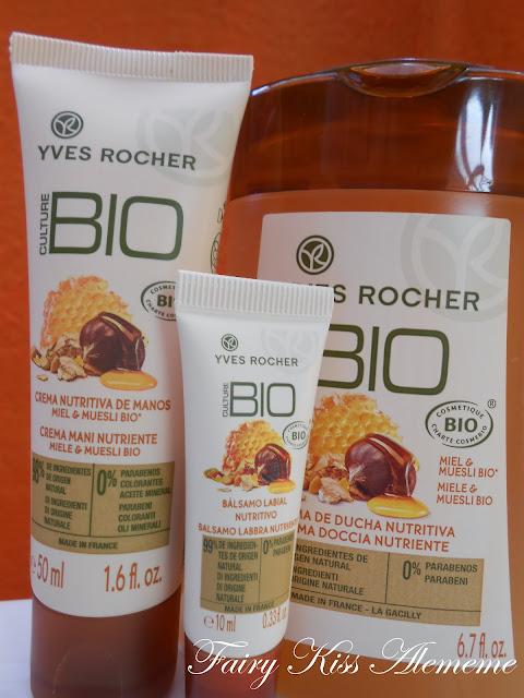 Fairy kiss nuova linea bio culture yves rocher miele e - Bagno doccia yves rocher ...
