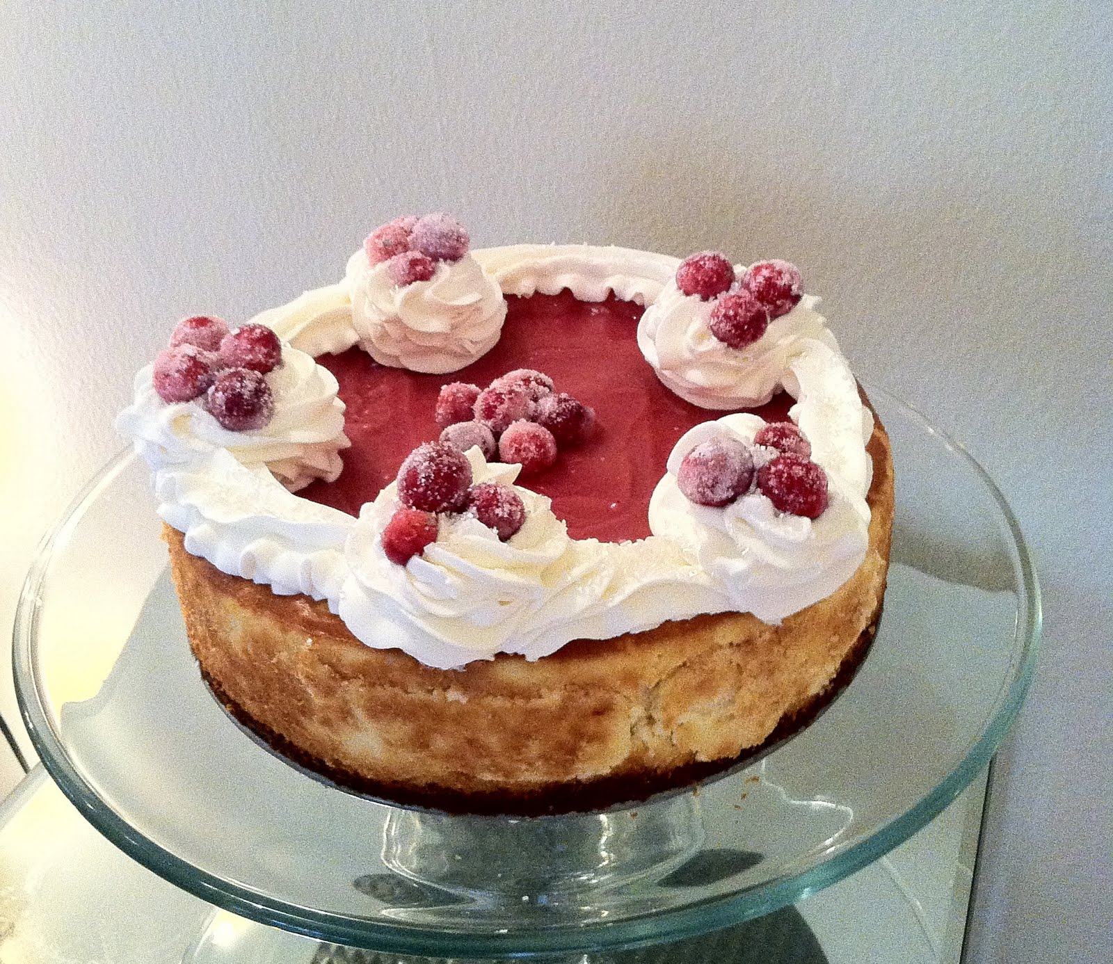Pixie Crust: Sugared Cranberry White Chocolate Cheesecake (Gluten Free ...