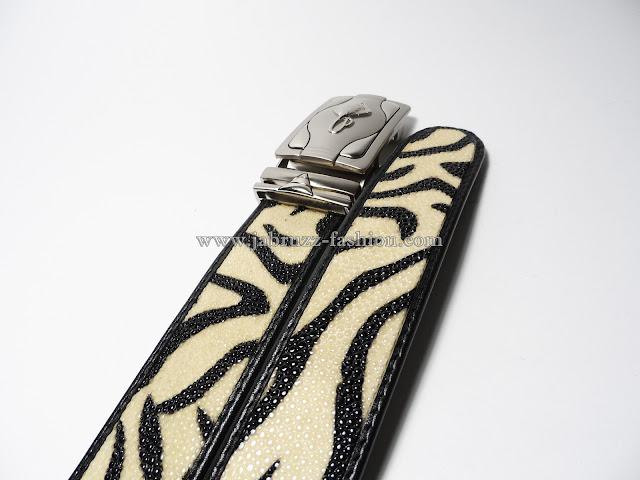 Ikat Pinggang Kulit Pari Kualitas Branded - Zebra