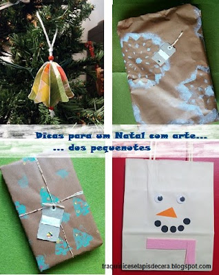 Dicas para um Natal com Arte... dos pequenotes | Traquinices e Lápis de Cera