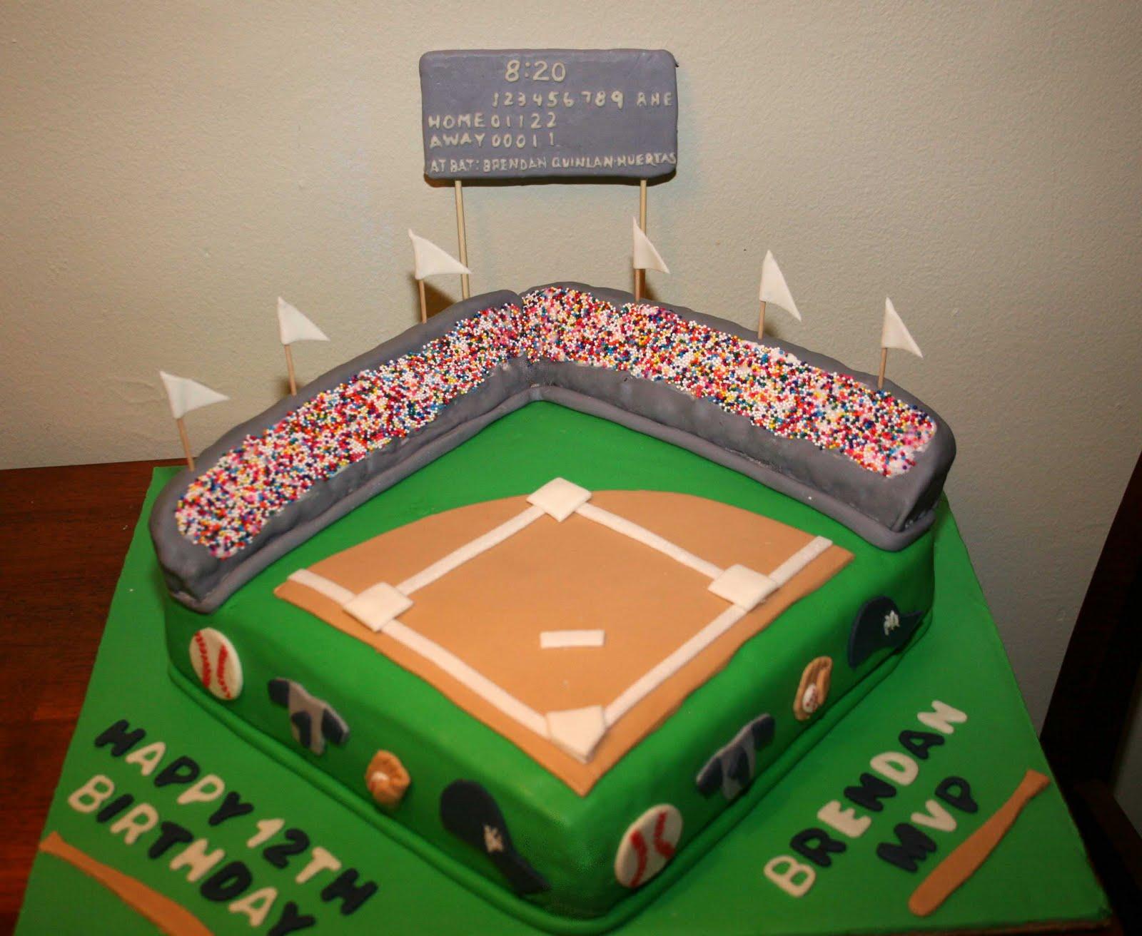 Cake Design Themes : Cakes & Pops by Jenn: Baseball Cake