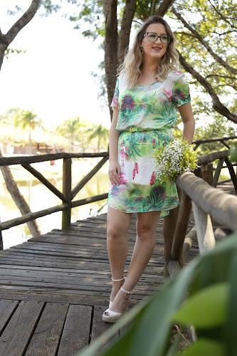 Look: Vestido Florido - Zonna Vip