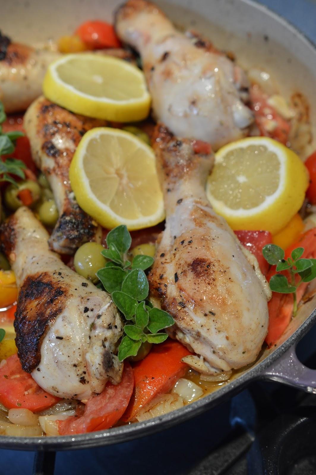 Lili popotte pilons de poulet brais s la grecque - Pilon de poulet a la poele ...