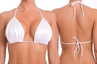 white Neon Bikini Top