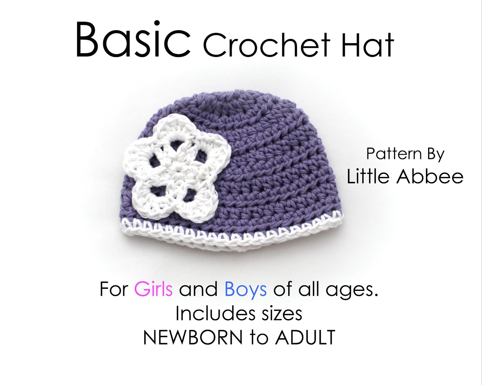 Crochet Tutorial Hat : Little Abbee: Tutorial: Basic Crochet Hat!