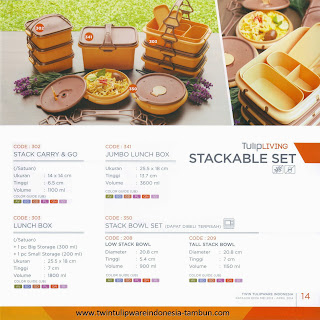 STACKABLE SET - KATALOG TWIN TULIPWARE 2013-2104