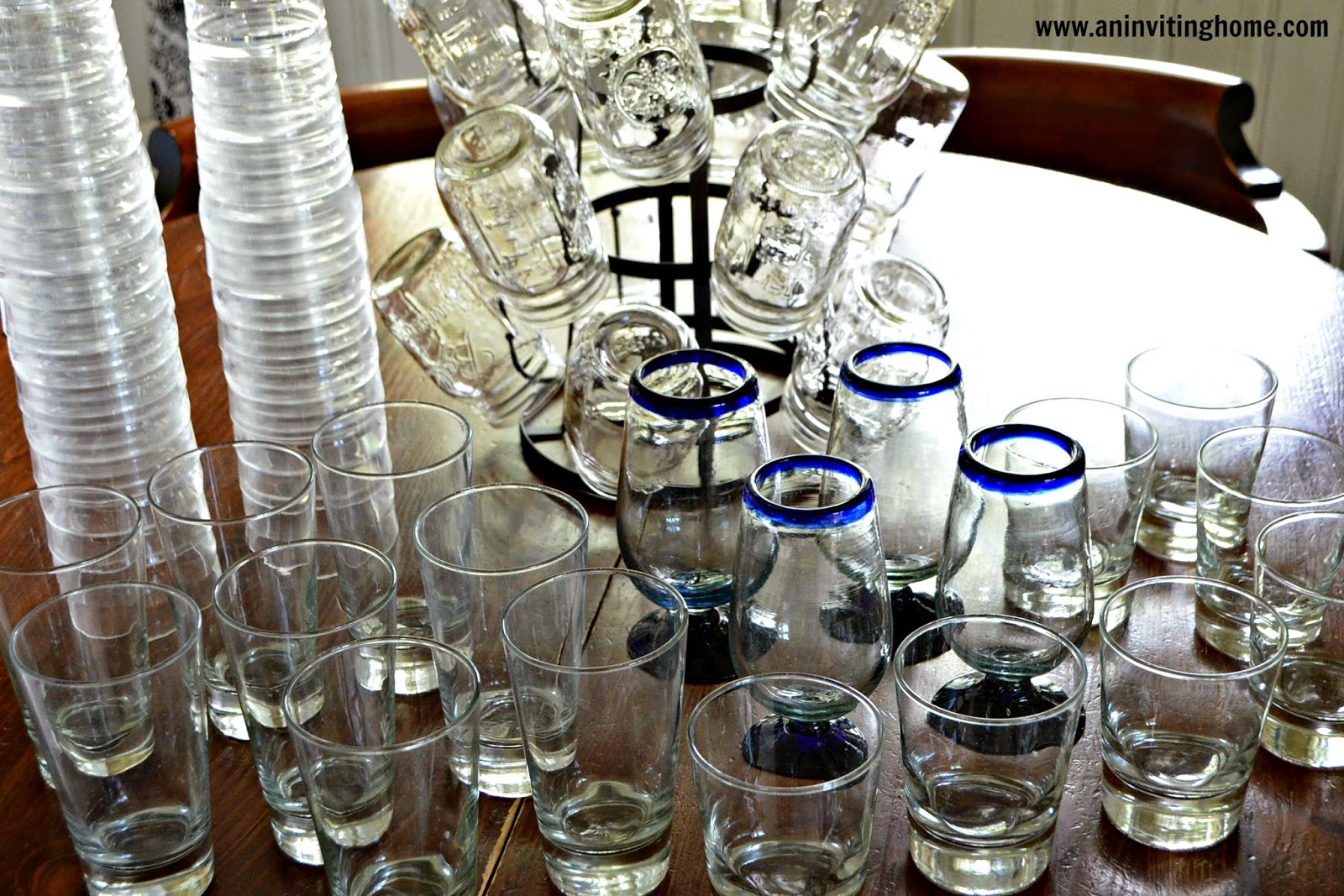 mason jar glasses for the kitchen