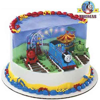 Thomas Tank Engine Cake Decoration Kit : Kids cake cartoon characters Thomas and friends cake ...