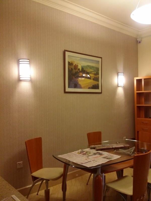 Wall Paper in Dining Hall at Terrace House Taman Tasik Indah Kuala Lumpur