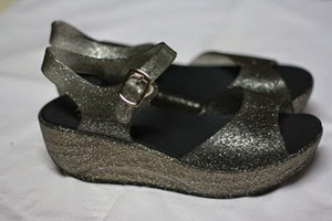 SANDAL JELLY BLACK GLITTER