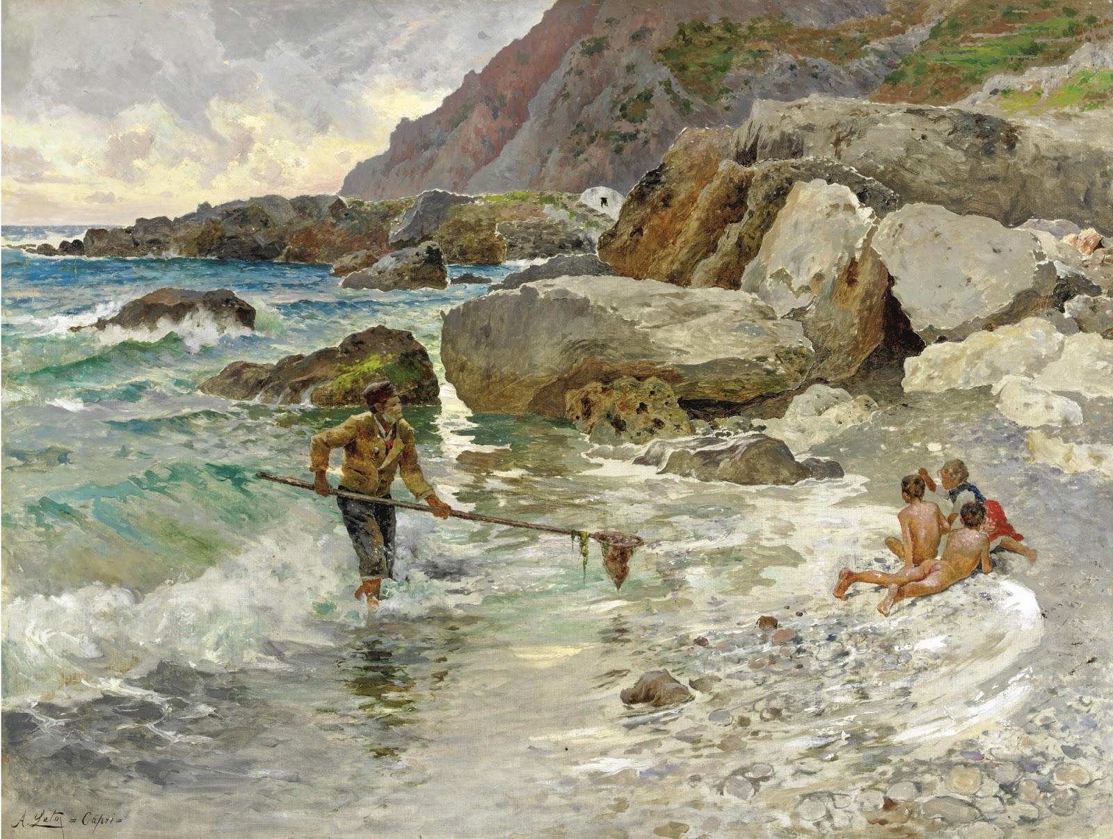Antonino Leto I figli del mare Capri