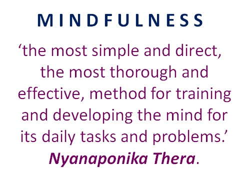 MINDFULNESS IS MIND TRAINING
