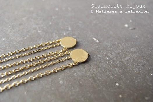 Boucles pendantes vermeil Stalactite bijoux