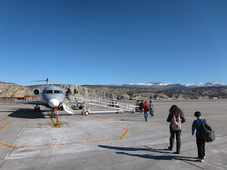 Boarding my airplane from Eagle to Denver