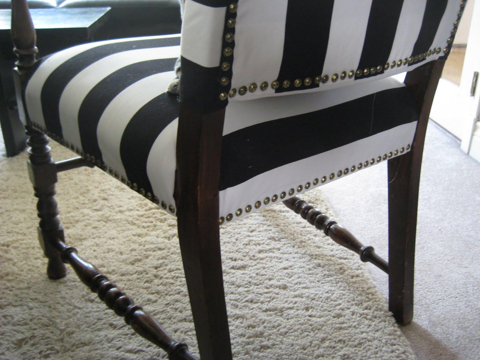 black and white striped armchair the reveal markova design. Black Bedroom Furniture Sets. Home Design Ideas