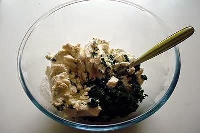 Torta fiore di ricotta e spinaci 3
