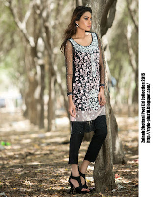 chiffon-shirt-in-black-from-zainab-chottani-eid-pret-2015
