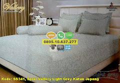 Harga Sprei Vallery Light Grey Katun Jepang Jual