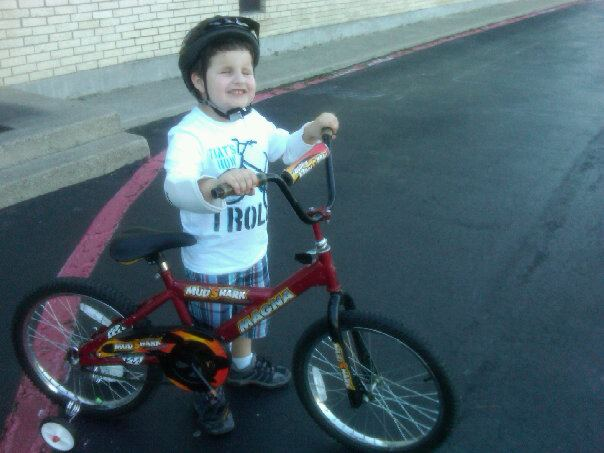 Riding a bike for the 1st time!