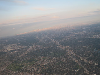 View of greater Chicago from the air