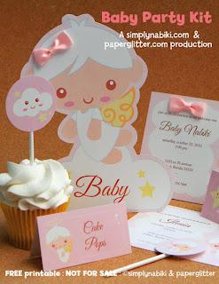 kit chá de bebê para imprimir tema anjinho grátis