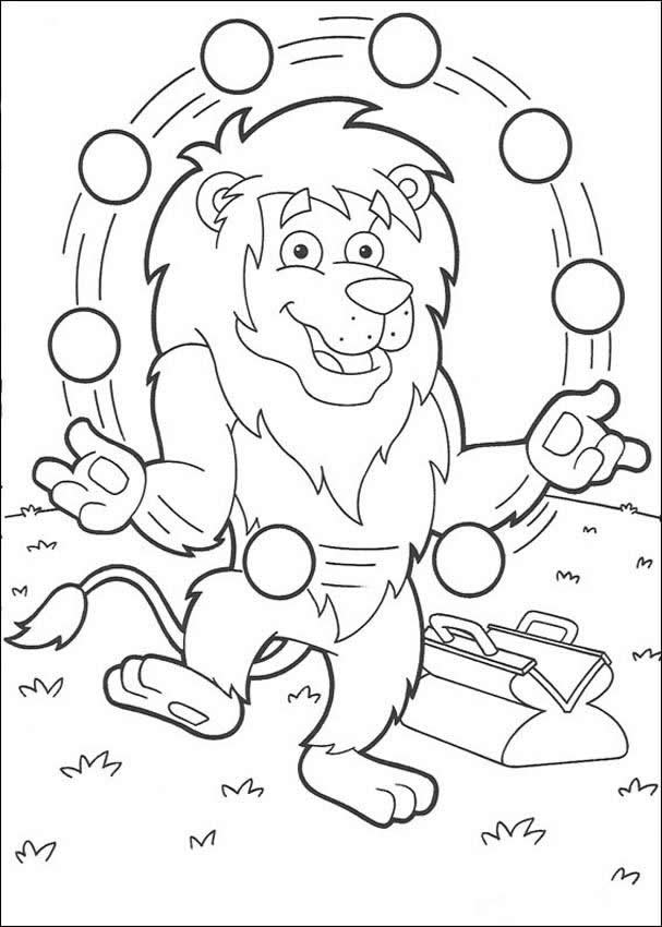 Circus Lion Coloring Page Picture
