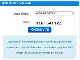 Cara Mengatasi Kode Registrasi Dapodik Tidak Ditemukan