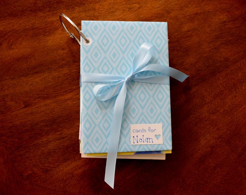 cozy birdhouse | my book of sympathy cards for baby nolan