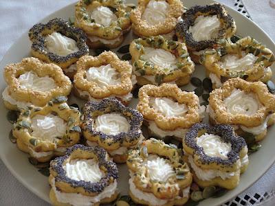 Ciasteczka serowe z kremem a'la feta