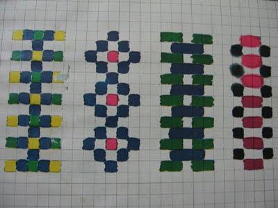 T cnicas de pintura frisos sobre papel quadriculado - Friso de papel ...