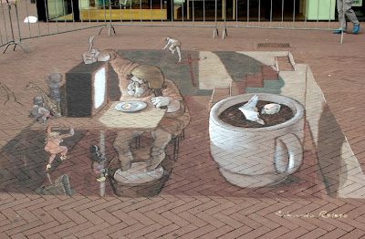 chalks art - chalk art on sidewalk - by Eduardo Relero on Street Art Utopia