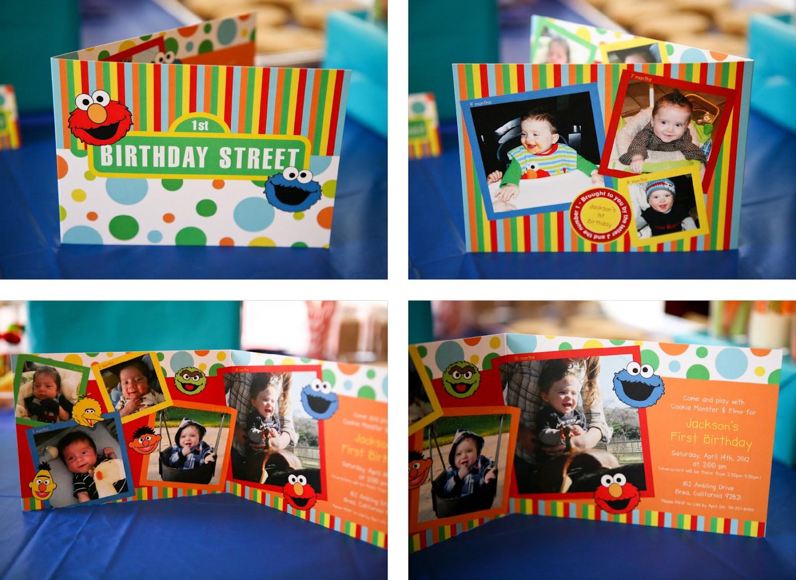 Invitation Parlour: Sesame Street Party {Jackson\'s 1st Birthday}