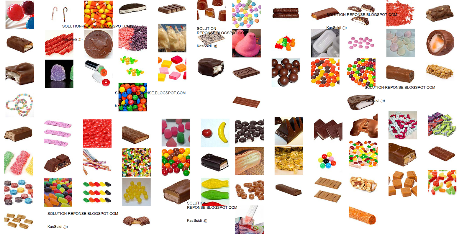 100 pics candy solutions