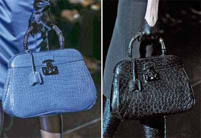 bolsa Gucci azul e preta