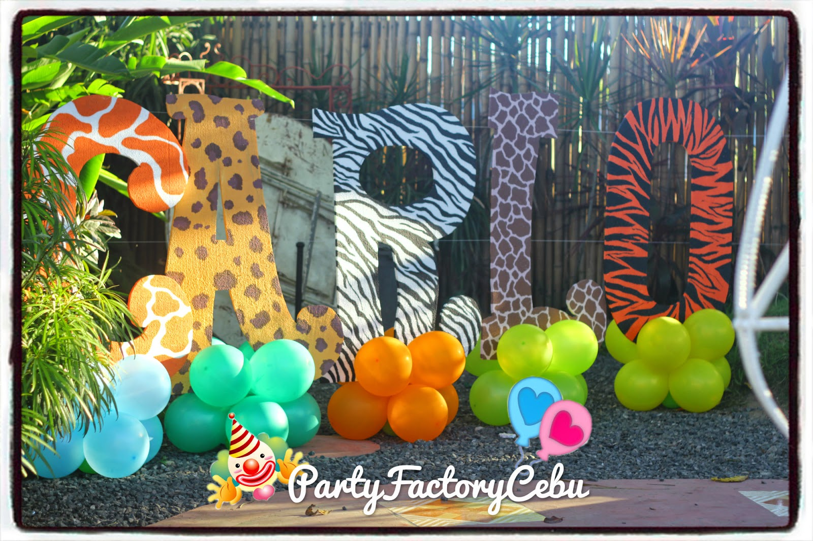 Welcome to partyfactory cebu carlo s st safari theme