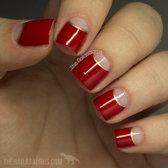 I Started With A Base Coat Of Opi Nail Envy And Waited For That To Dry Before Lying Hole Reinforcers Mark Off The Half Moons Near My Cuticle