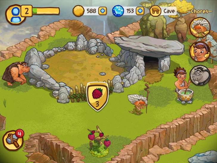 The Croods Free App Game By Rovio Entertainment Ltd