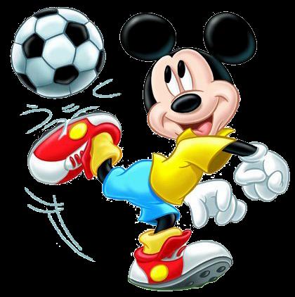 Mickey haciendo deporte para imprimir