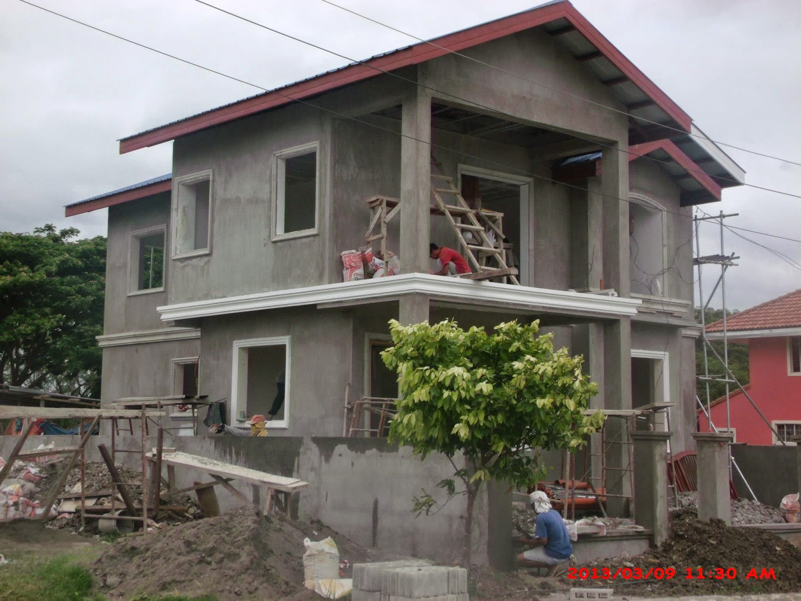 Philippines 2 2 story house design with balcony joy for House garage design philippines