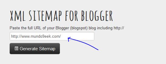 sitmap de blogger para indexar en google